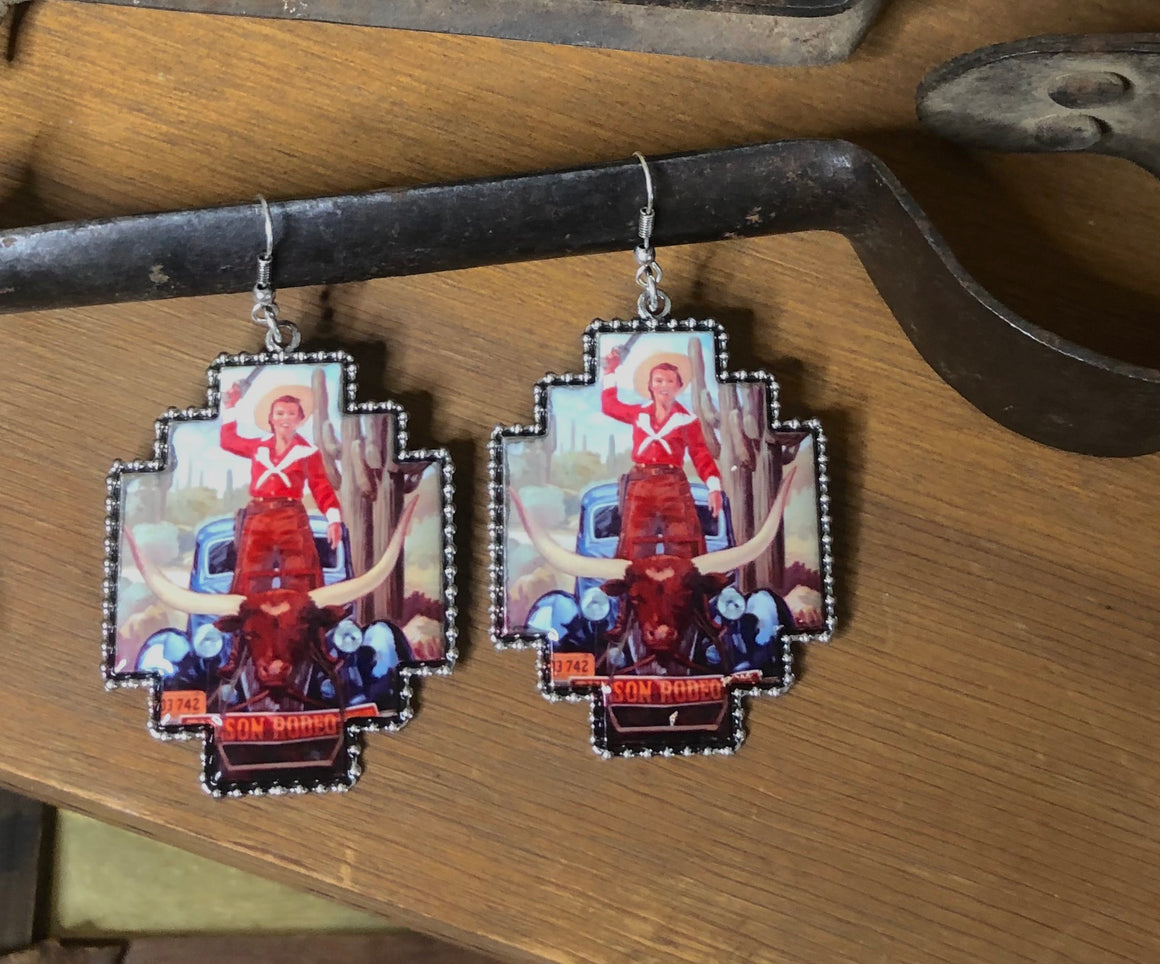 Western Portrait Earrings