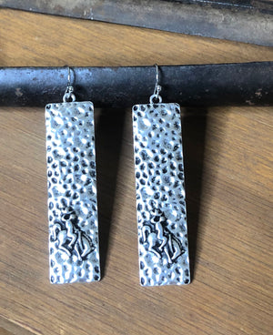 Stamped Bronc Earrings