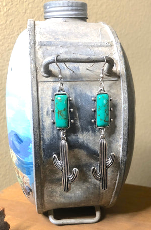 Cactus/Turquoise Earrings