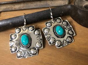 Western Earrings with Natural Stone