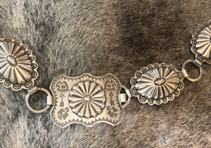 Antique Silver Concho Belt