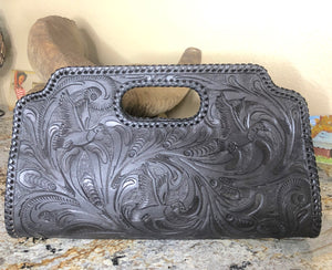Custom Duck Tooled Leather Clutch