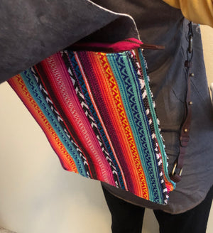 Serape Bonita Backpack with Custom Leather Duck