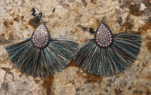 Fringe Teardrop Earrings