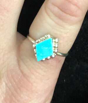 Dainty Turquoise Ring- Size 7