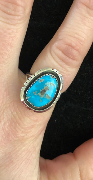 New Mexico Turquoise Ring- Size 7