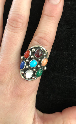 Multi Stone Ring- Size 8