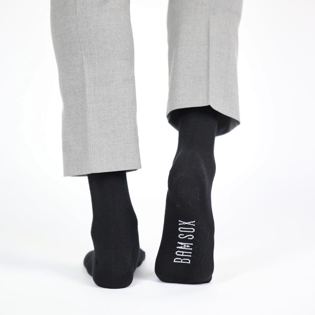 3 - Black Business Socks - Bam Sox