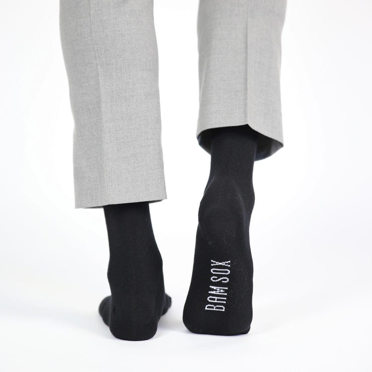 5 - Black Business Socks - Bam Sox