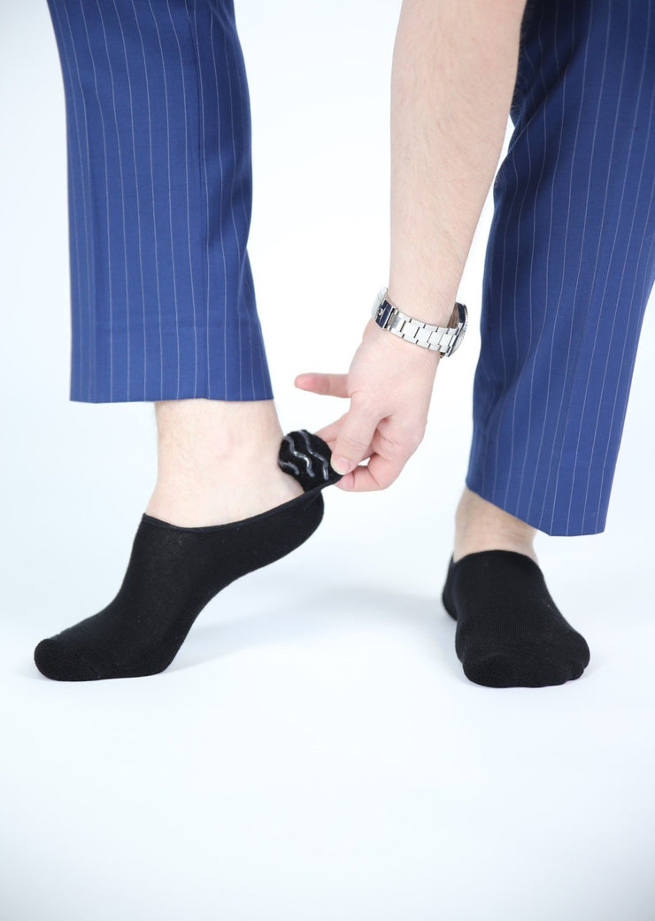 5 - Black No Show Socks - Bam Sox