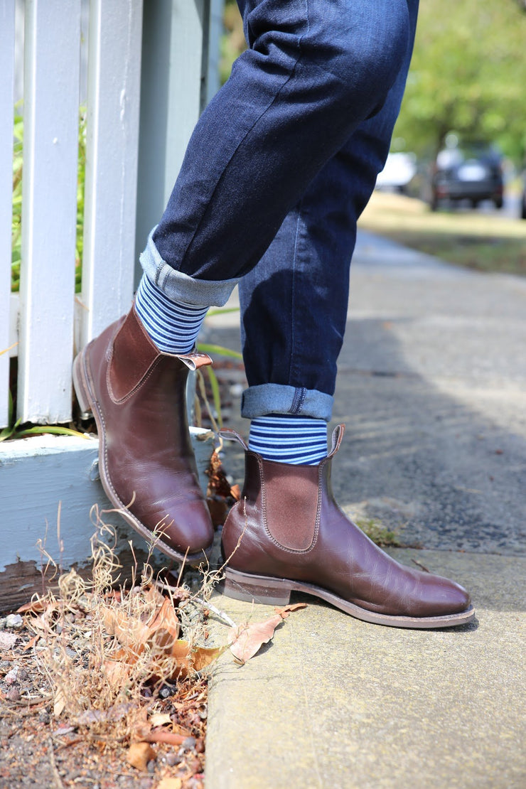 Thin Blue Stripe - Bam Sox