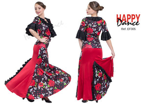 FALDA FLAMENCO EF305 PERSONALIZADA Happy Dance