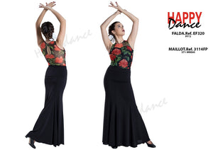 FALDA FLAMENCO EF320 PERSONALIZADA Happy Dance