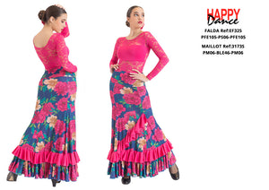 FALDA FLAMENCO EF325 PERSONALIZADA Happy Dance