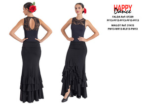 FALDA FLAMENCO EF339 PERSONALIZADA Happy Dance