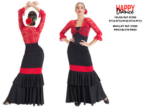 FALDA FLAMENCO EF350 PERSONALIZADA Happy Dance