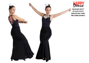FALDA FLAMENCO EF377 PERSONALIZADA Happy Dance