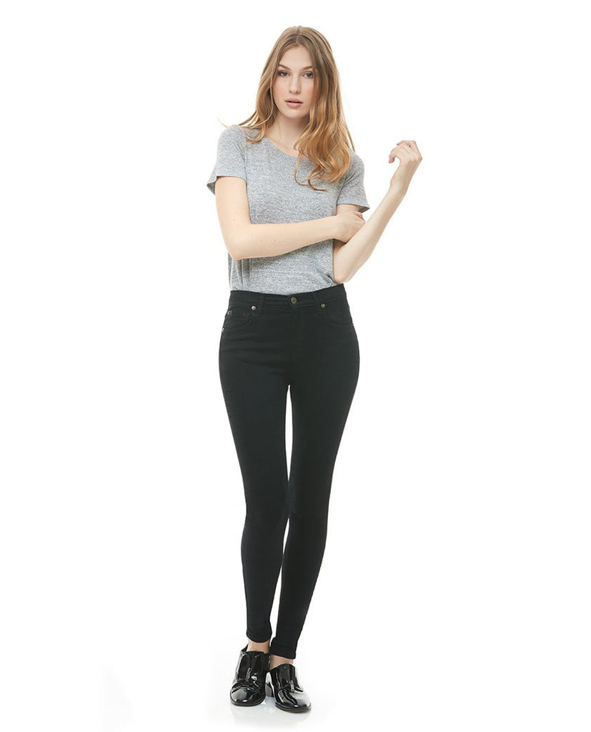 RACHEL SKINNY JEANS / CLASSIC-RISE / Pitch Black