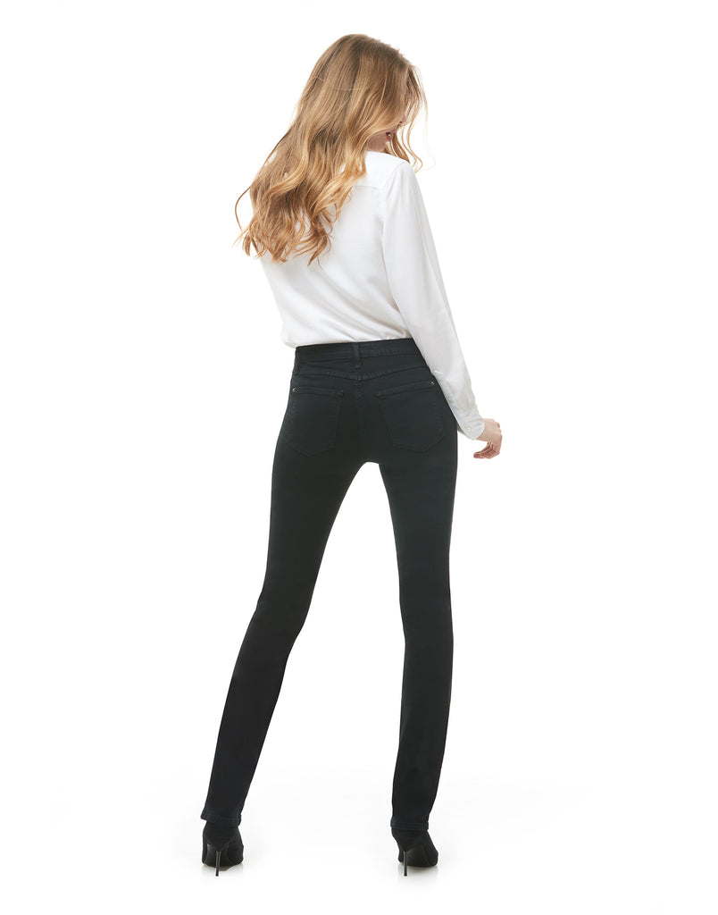 CHLOE STRAIGHT JEANS / CLASSIC-RISE / Pitch Black