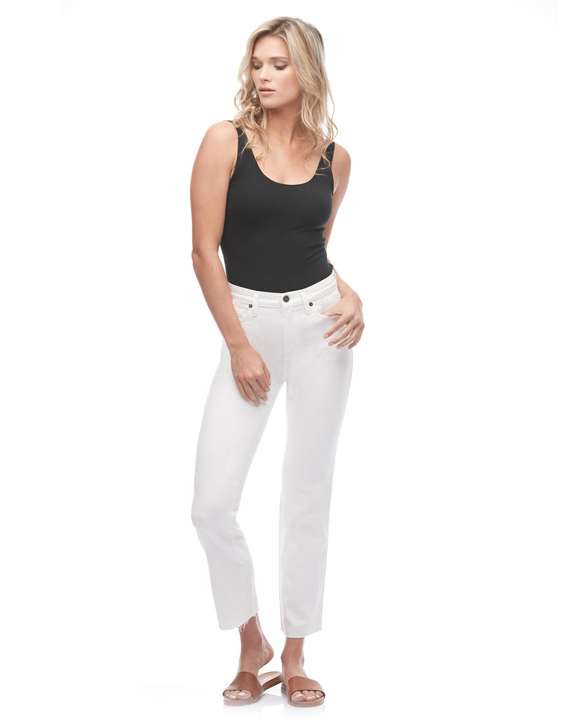 CHLOE STRAIGHT JEANS / White Dove