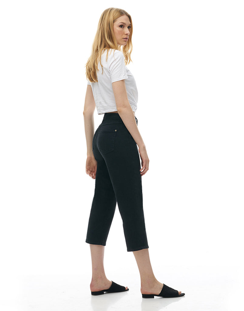 CHLOE CROP STRAIGHT JEANS / Black