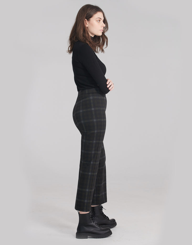 CHLOE STRAIGHT PANT / Honey Plaid