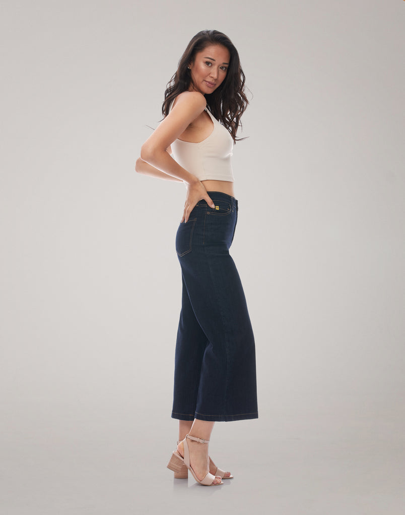 LILY WIDE LEG JEANS / Night Cap