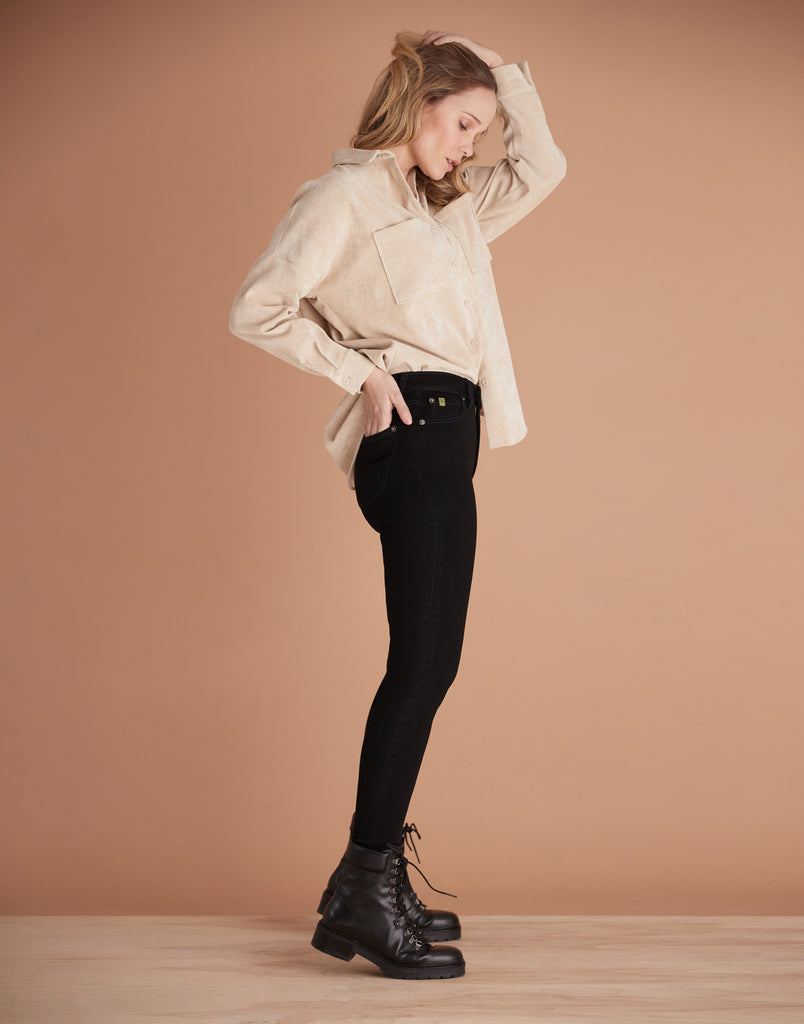 Blackout High Rise Rachel Skinny Jeans Yoga Jeans