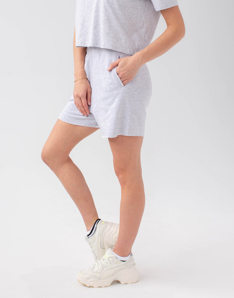 RELAXED SHORTS   / GREY MIX