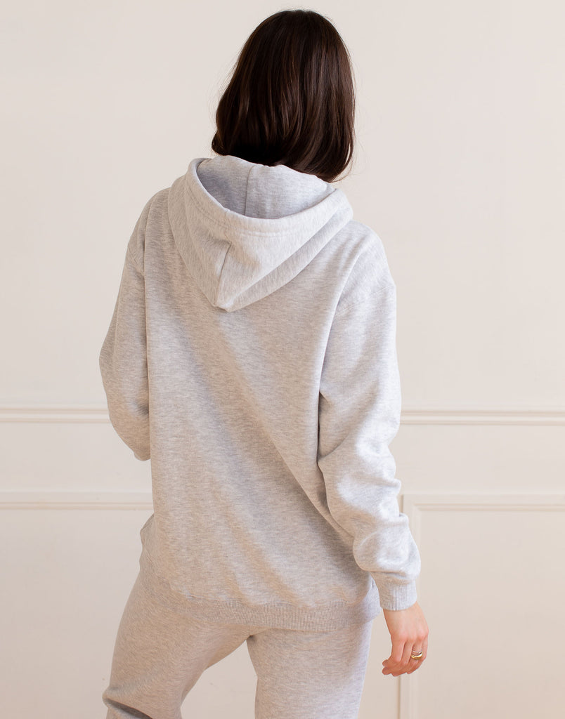 Grey Oversized Boyfriend Hoodie Active Collection Yoga Jeans