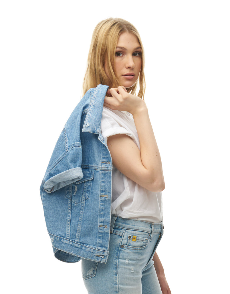 Clear Sky Jean Jacket Yoga Jeans