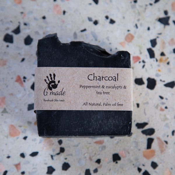 Charcoal, Peppermint, Eucalyptus and Tea Tree vegan soap