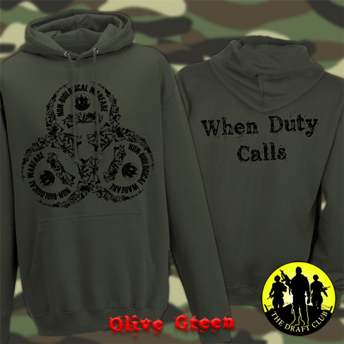 The Draft Club When Duty Calls Non-Biological Warfare Hoodie
