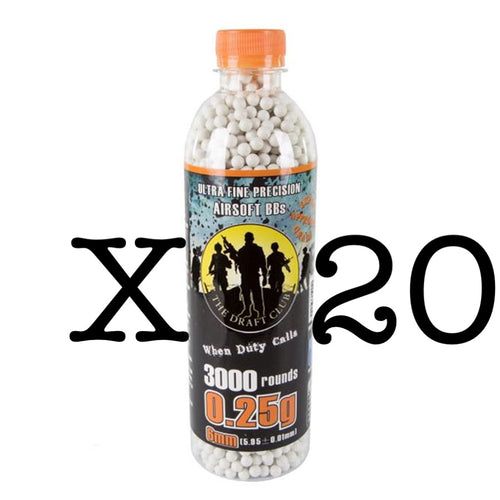 The Draft Club 6mm 0.25g Airsoft BBs X 20