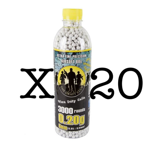 The Draft Club 6mm 0.20g Airsoft BBs X 20