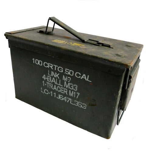Metal .50 Cal Ammo Box (NATO ISSUE)