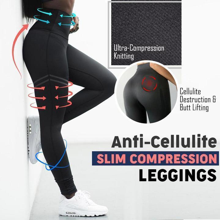 Anti-Cellulite Slim Compression Leggings - LimeTrifle