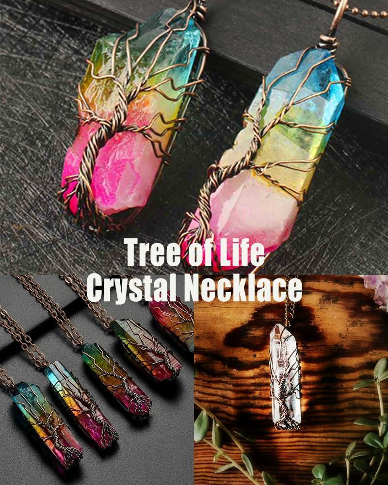 Tree of Life Crystal Necklace - LimeTrifle