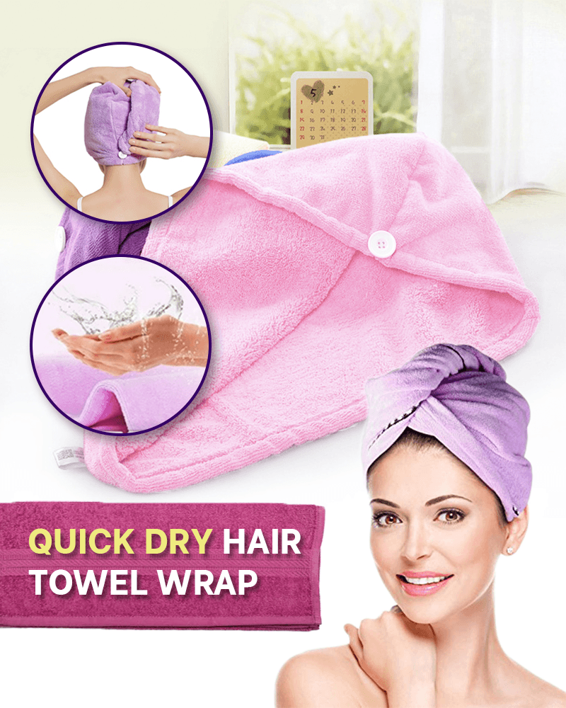 Quick Dry Hair Towel Wrap - LimeTrifle