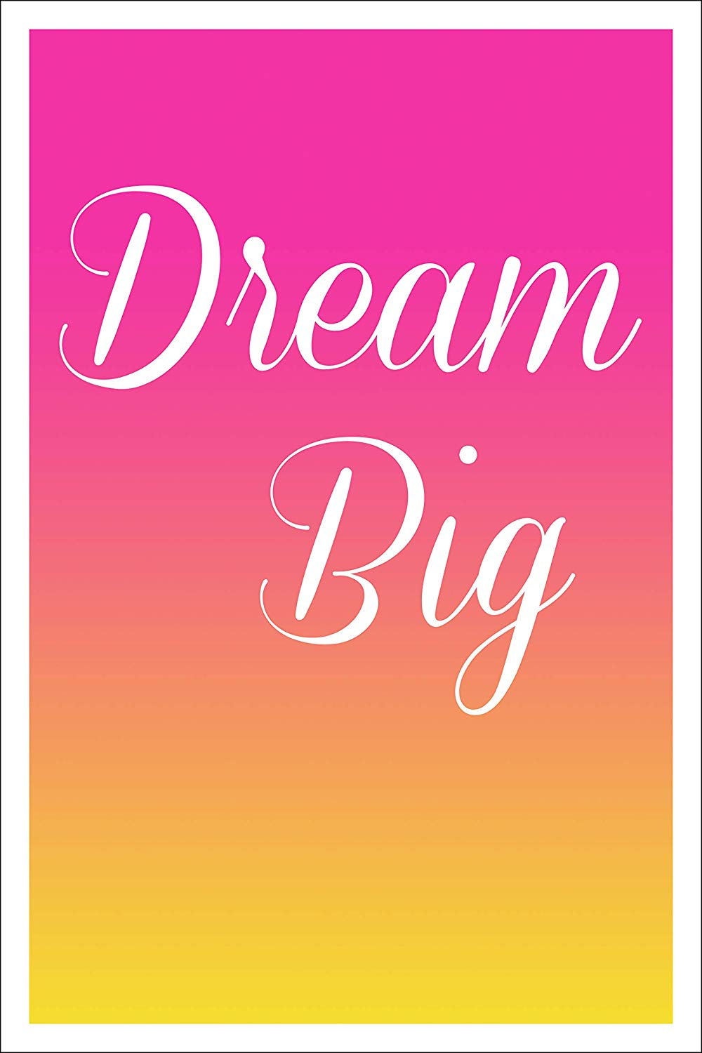 "Spitzy's Dream Big Inspirational 12"" x 18"" Poster - Home Bedroom or College Dorm - Gift for Mom Dad Son or Daughter"