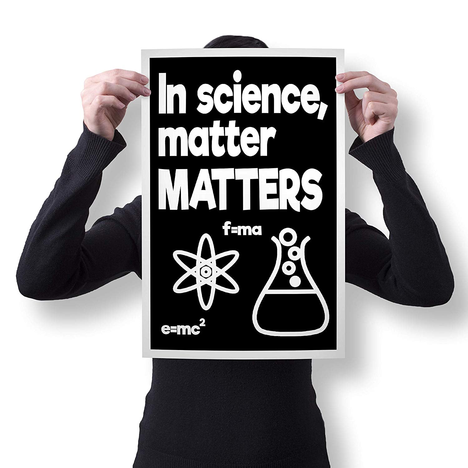 "Spitzy's in Science Matter Matters Funny Chemistry Teacher Pun Poster (12"" x 18"" Dimensions Include a White .5"" Border)"