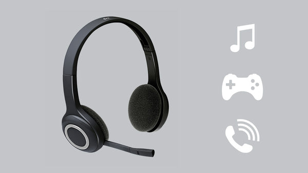 Logitech Headset Wireless H600 with Noise-Cancelling
