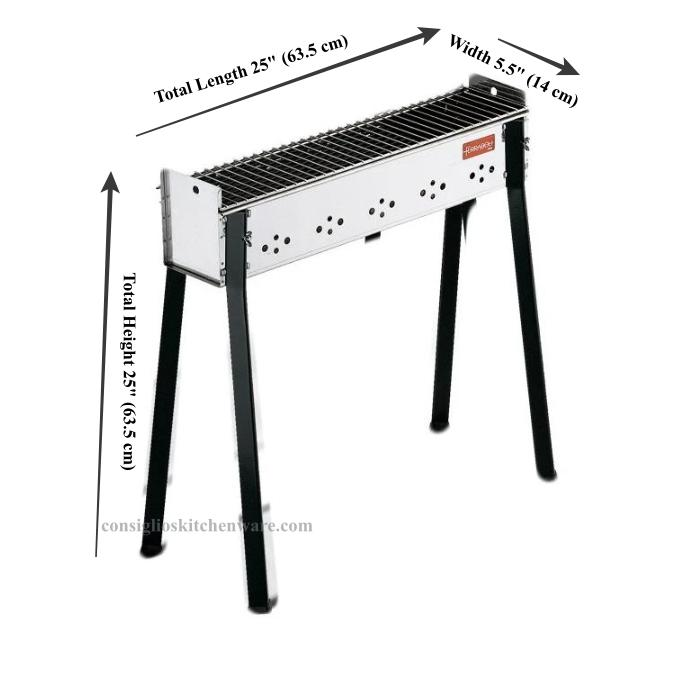 Large Ultimate Spiedini / Arrosticini Kit - Spiedini Maker, BBQ & More! Dimensions