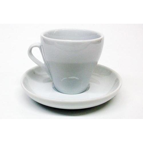 Armand Lebel Cappuccino 12 Piece Cup & Saucer Set - Plain White-Espresso Machines-us-consiglios-kitchenware.com-Consiglio's Kitchenware-USA