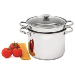 Catering Line Stainless Steel Pasta Pot Set - 24cm / 7 lt-Cookware-Catering Line-Consiglio's Kitchenware-USA