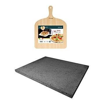 Eppicotispai - Pizza Peel And Stone Set (Mount Etna Lava Stone)-Eppicotispai-Consiglio's Kitchenware-USA
