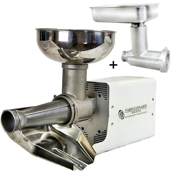 Fabio Leonardi MR8 0.5 HP SP3 Tomato Machine + TC12 Meat Grinder Combo-Fabio Leonardi Tomato Machine,Kitchenware,Small Appliances,Specialty Food Prep-Fabio Leonardi-Consiglio's Kitchenware-USA