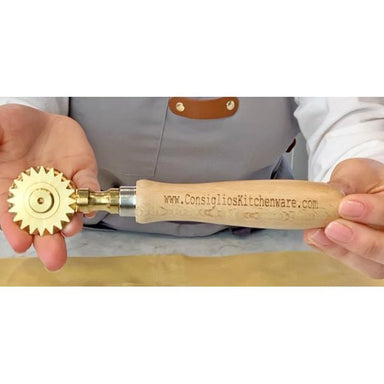 Brass Fluted Pastry and Pasta Wheel USA