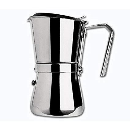 Giannina 9 cup Stainless Steel Stove Top Espresso Maker-Espresso Machines-Giannini-Consiglio's Kitchenware-USA