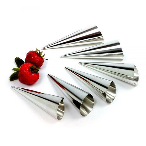 PASTRY HORN MOLDS, CONE SHAPED 6 PACK